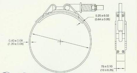 Φ117mm-T型抱箍