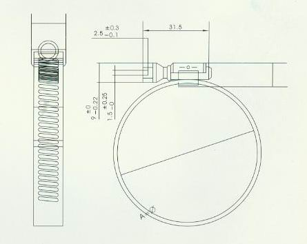KTA50康明斯柴油发动机 康明斯43828C-软管卡箍
