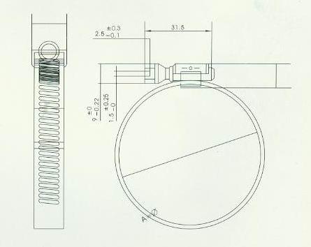 康明斯986321-B-软管卡箍*